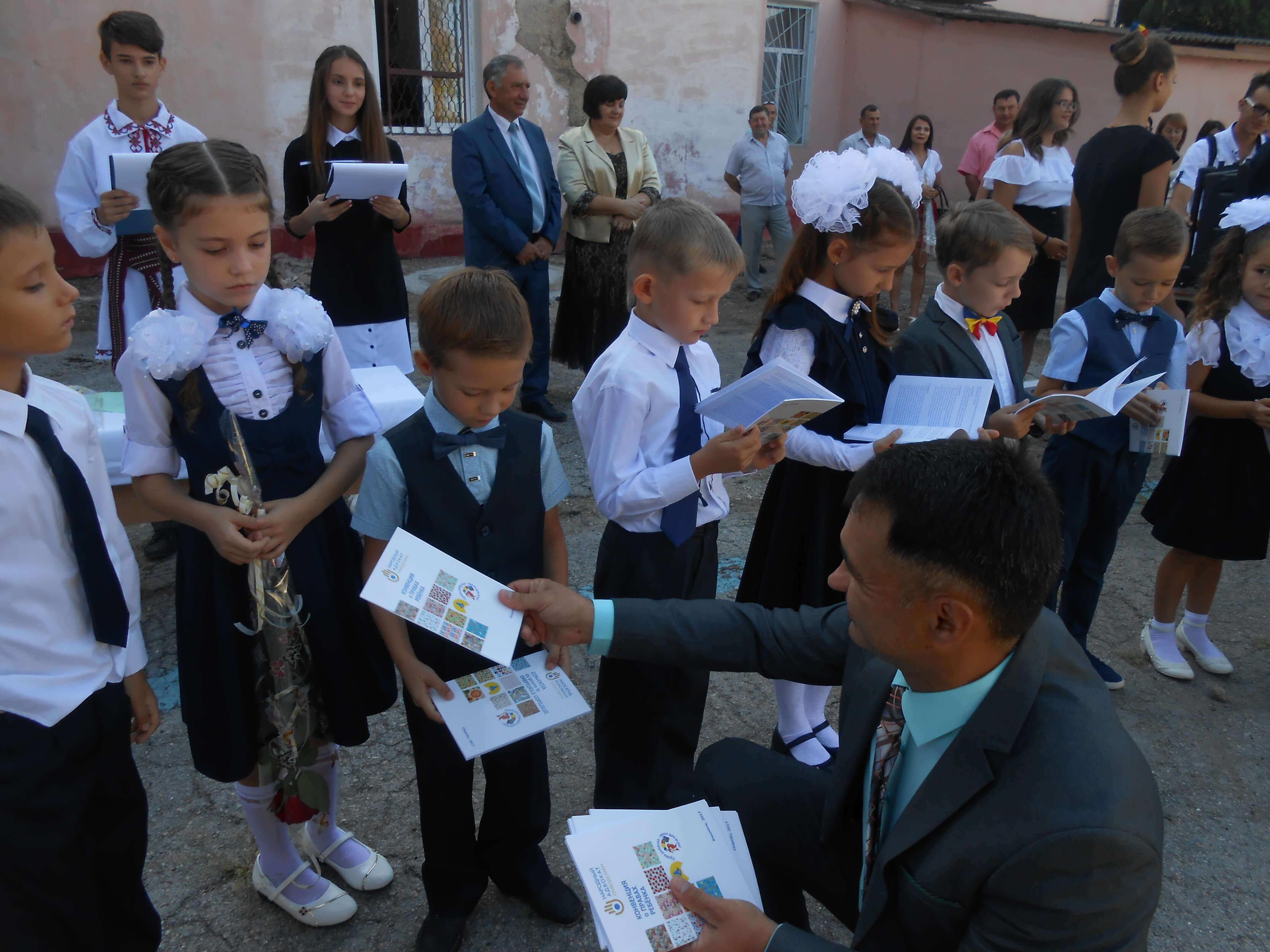"""Prima zi de școală împreună cu copiii din Liceul Teoretic """"Lucian Blaga"""" din Tiraspol"""