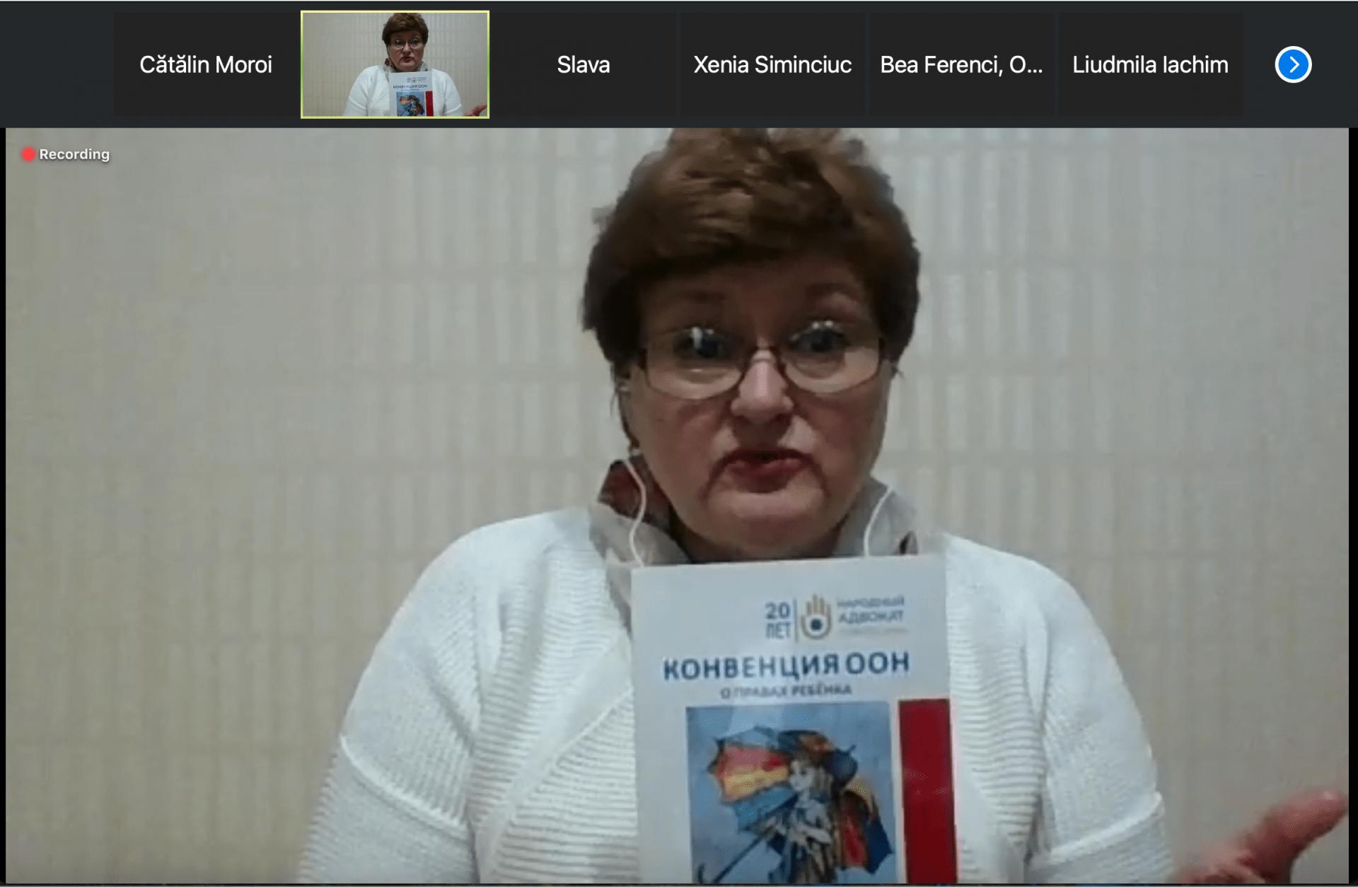 Prelegere privind respectarea drepturilor copilului în perioada crizei sanitare, ținută de Ombudsmanul Copilului pentru elevii din școlile cu predare în limba română din stânga Nistrului
