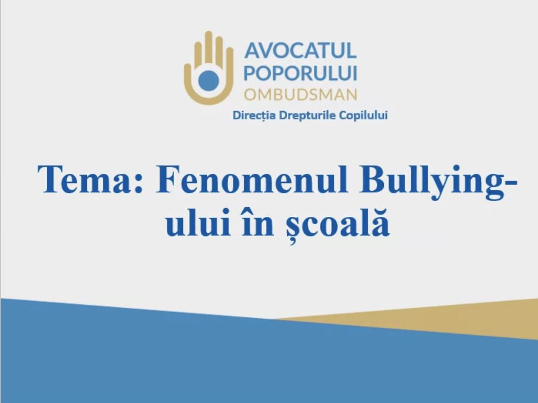 Activitate de informare privind fenomenul Bullying-ului în școală desfășurată în cadrul Colegiului Cooperatist din Moldova
